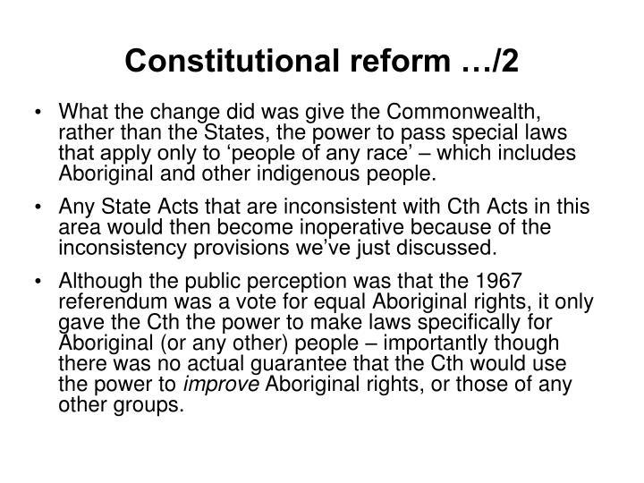 Constitutional reform …/2