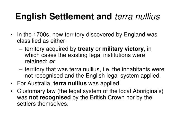 English Settlement and