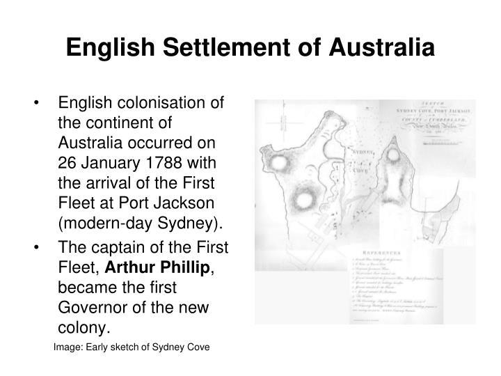 English Settlement of Australia
