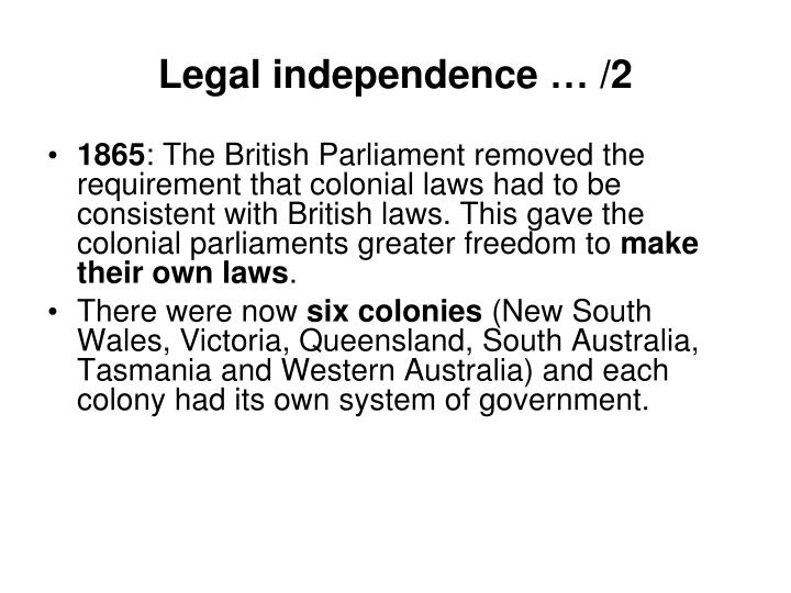 Legal independence … /2