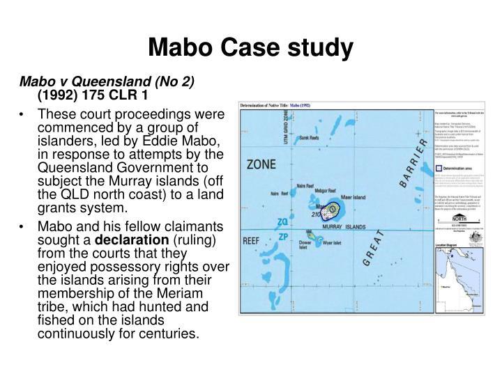 Mabo Case study