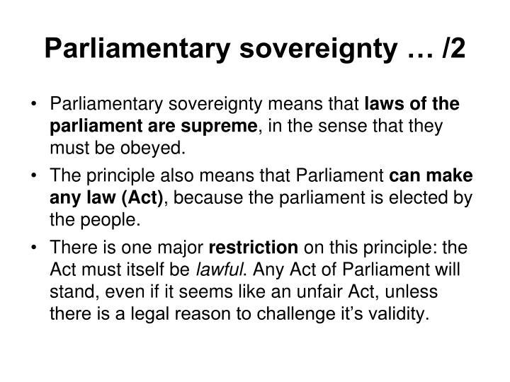 Parliamentary sovereignty … /2