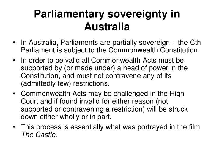 Parliamentary sovereignty in Australia