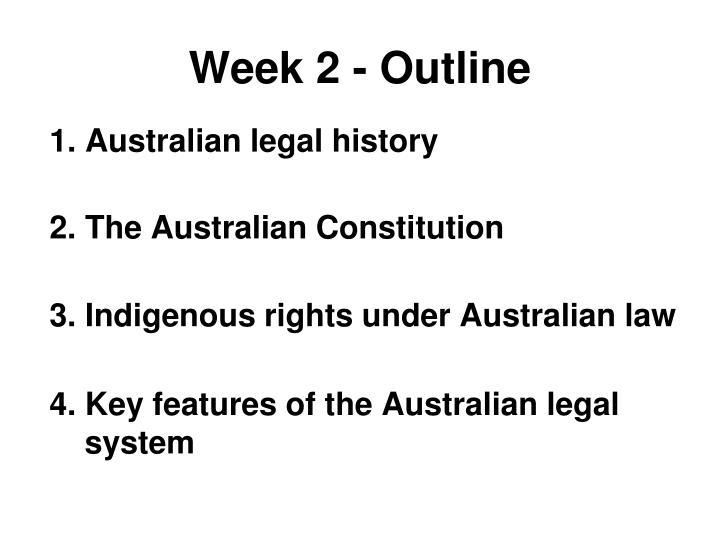 Week 2 - Outline