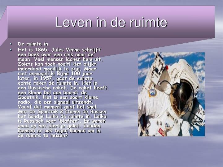 Leven in de ruimte