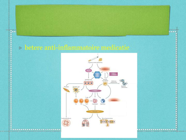 betere anti-inflammatoire medicatie