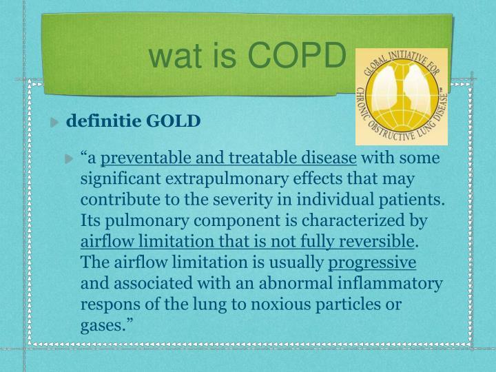 wat is COPD