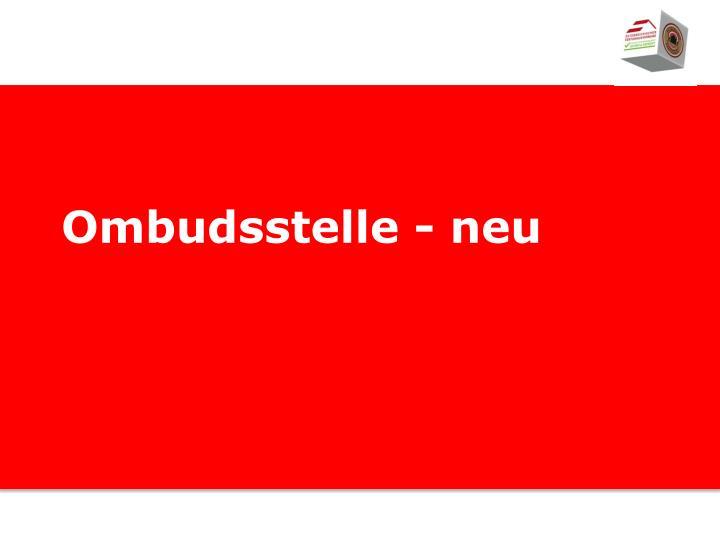 Ombudsstelle - neu