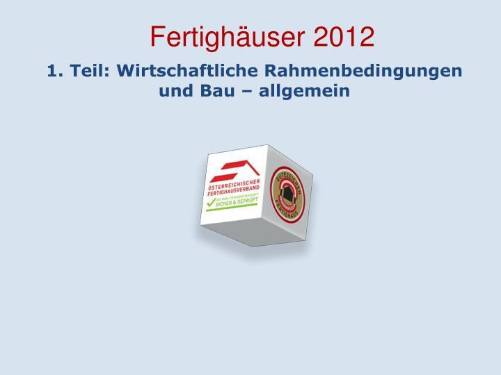 Fertighäuser 2012