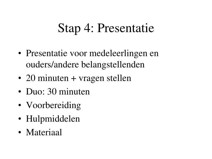 Stap 4: Presentatie