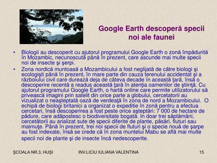Google Earth descoper