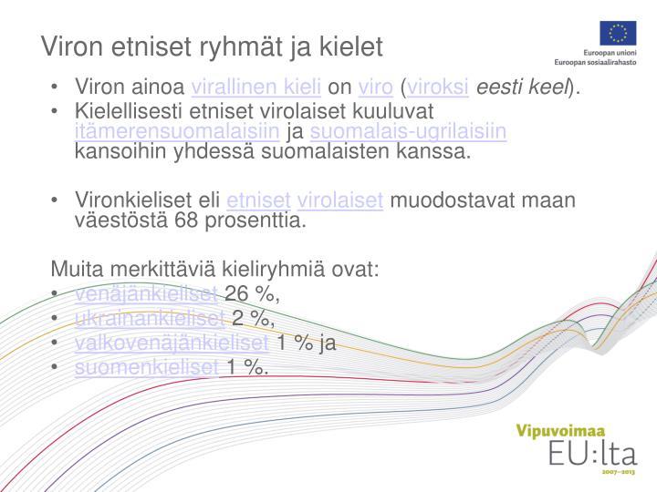 Viron etniset ryhmät ja kielet