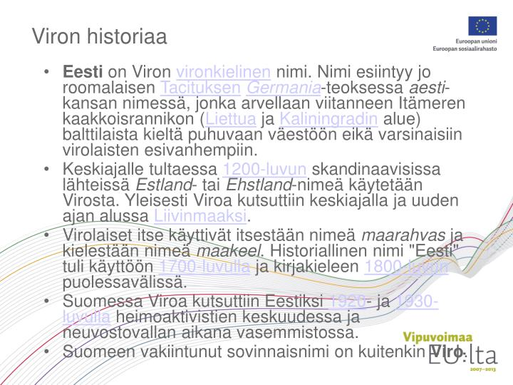 Viron historiaa
