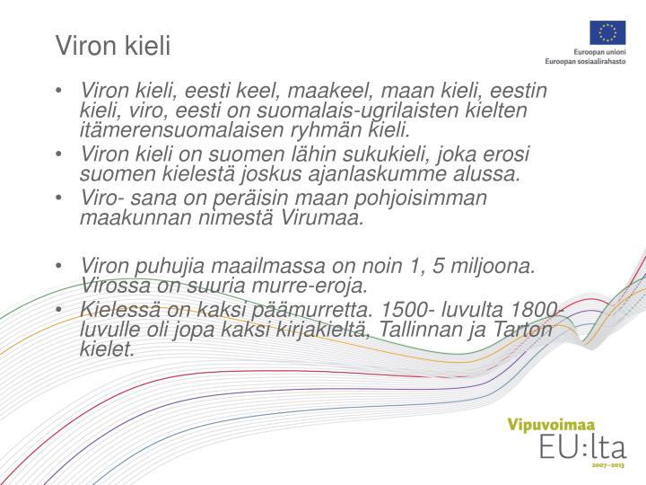 Viron kieli