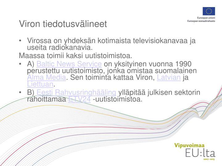 Viron tiedotusvälineet