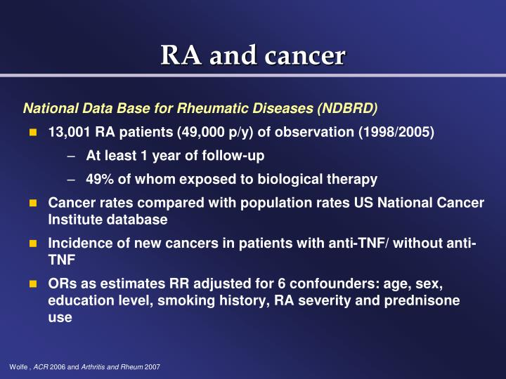 RA and cancer