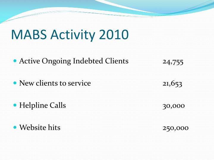 MABS Activity 2010
