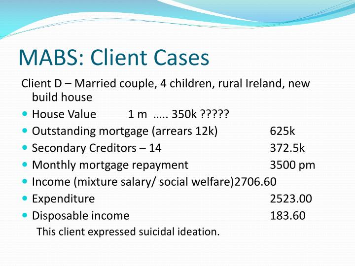 MABS: Client Cases