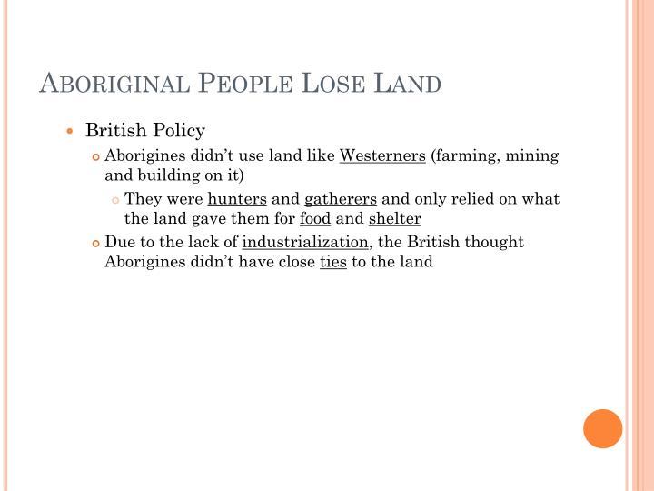 Aboriginal People Lose