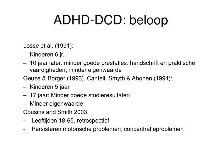 ADHD-DCD: beloop