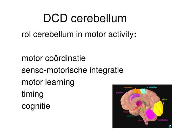 DCD cerebellum