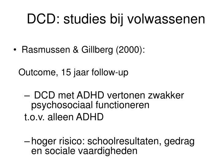 DCD: studies bij volwassenen