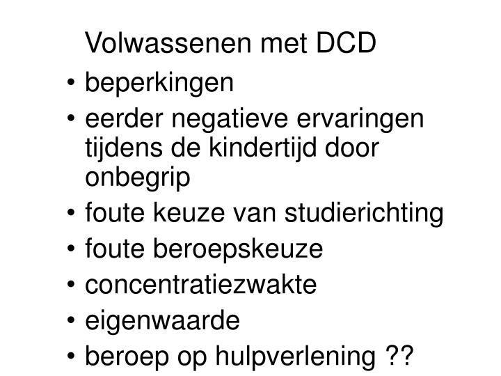 Volwassenen met DCD