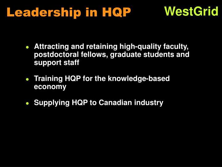 Leadership in HQP