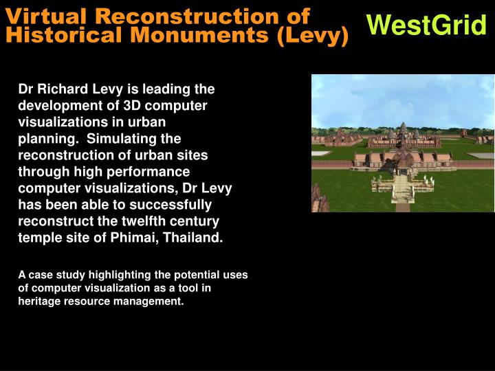 Virtual Reconstruction of Historical Monuments (Levy)