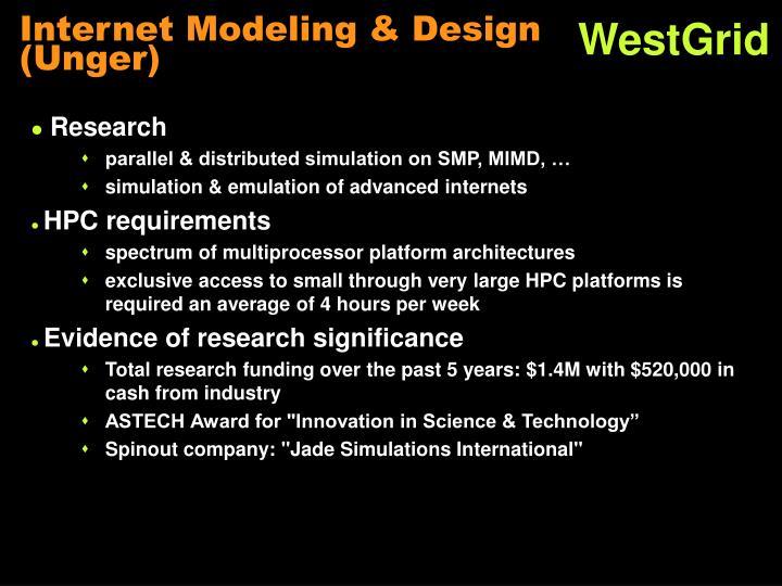 Internet Modeling & Design