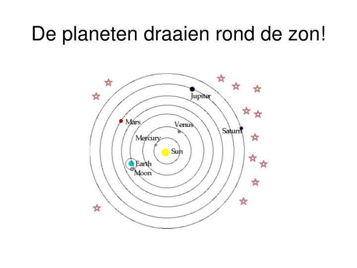 De planeten draaien rond de zon!