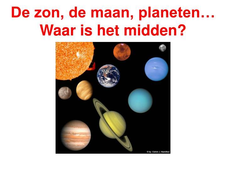 De zon, de maan, planeten… Waar is het midden?