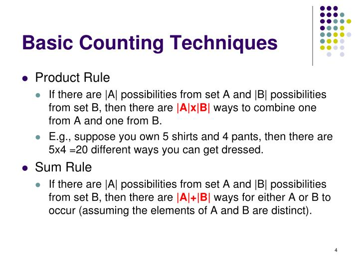 Basic Counting Techniques