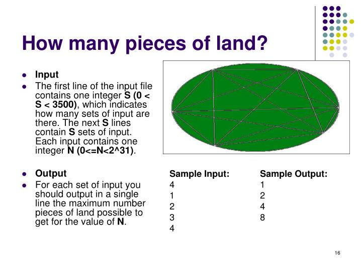 How many pieces of land?