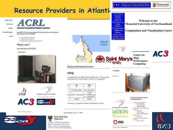 Resource Providers in Atlantic Canada
