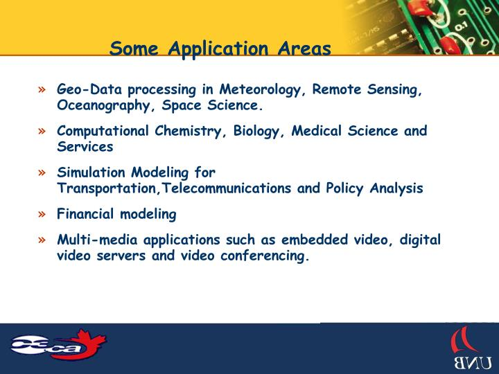 Some Application Areas