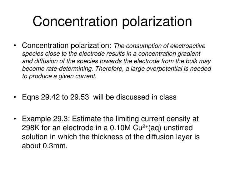 Concentration polarization