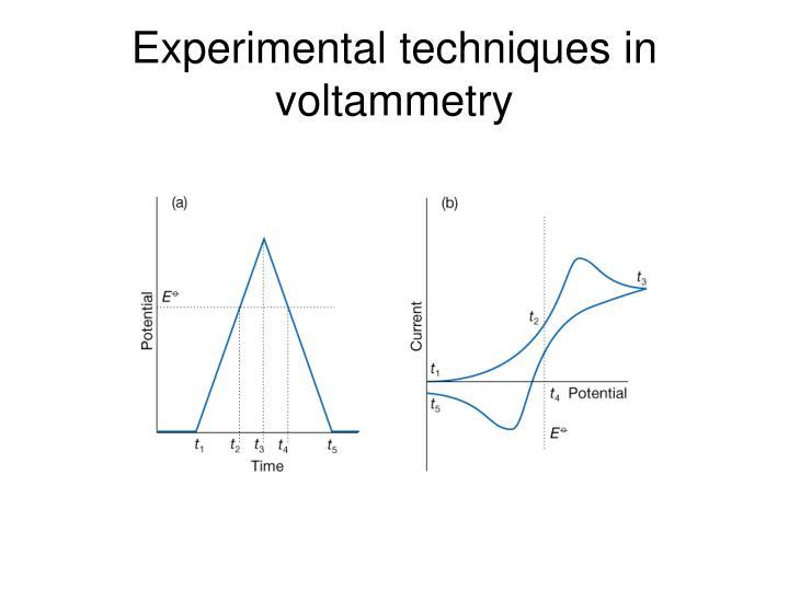 Experimental techniques in voltammetry