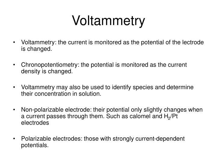 Voltammetry