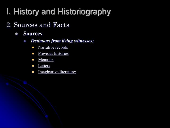 I history and historiography1