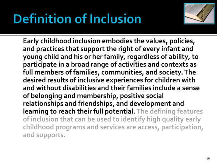 Definition of Inclusion