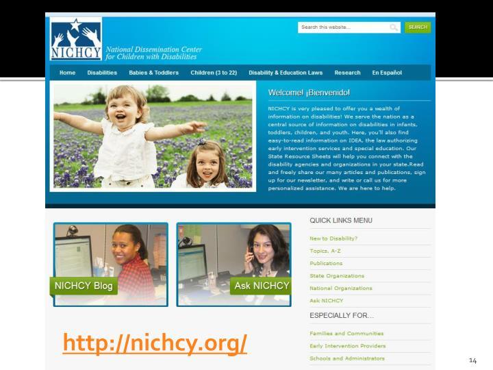 http://nichcy.org