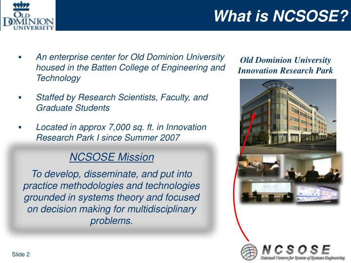 What is NCSOSE?
