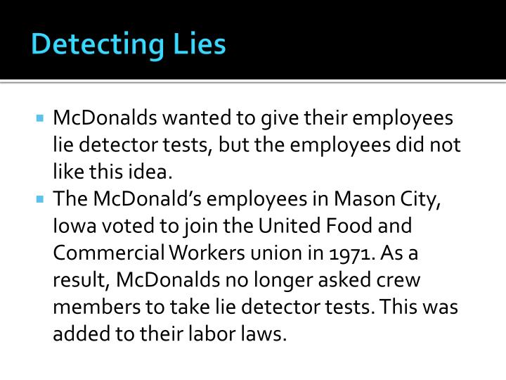 Detecting Lies