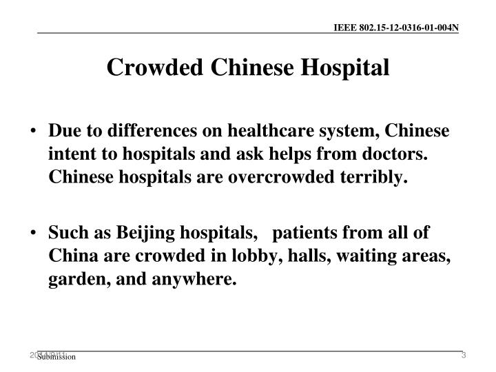 Crowded Chinese Hospital