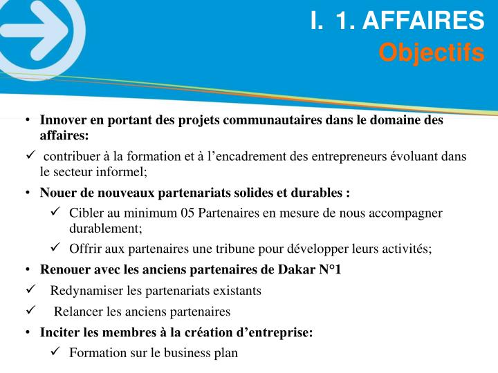 1. AFFAIRES