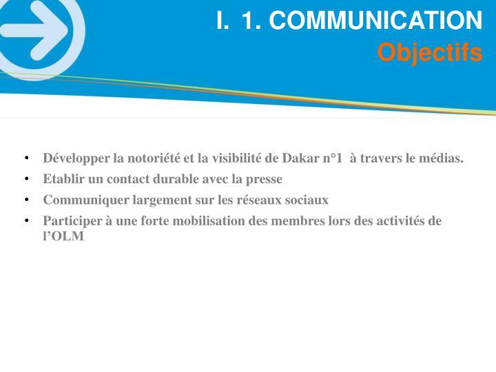 1. COMMUNICATION