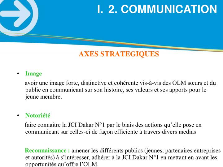 AXES STRATEGIQUES