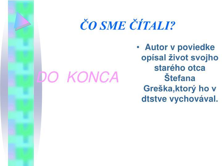 DO  KONCA
