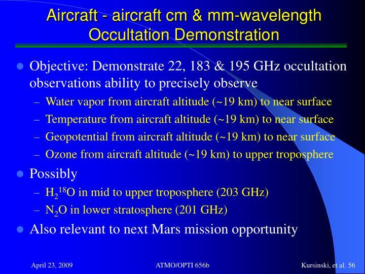 Aircraft - aircraft cm & mm-wavelength